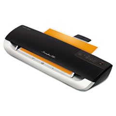 Fusion 3000XL Laminator Plus Pack with Ext Warranty and Pouches, Black/Silver