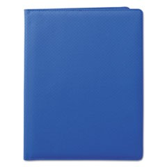 Fashion Padfolio, 8 1/2 x 11, Blue PVC