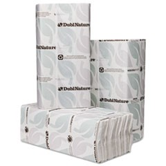 DublNature C-Fold Towels, 10 1/8 x 13, White, 150/Pack, 16 Packs/Carton