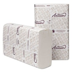 Artisan Folded Towels, Optifold, 10 1/4 x 9 1/2, White, 250/Pack, 12 Packs/Ct