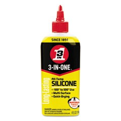 3-IN-ONE Professional Silicone Lubricant, 4 oz Bottle, 12/CT