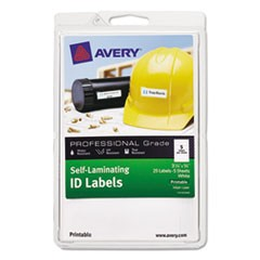 Self-Laminating ID Labels, Laser/Inkjet, 4 x 6 Sheet, 3/4 x 3 1/4, White, 25/PK