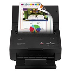 ADS-2000E Desktop Scanner with Duplex, 600 x 600 dpi, 50 Sheet ADF