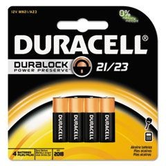 Coppertop Alkaline Batteries with Duralock Power Preserve Technology,12V, 4/Pk