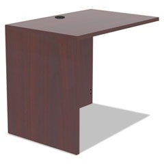 Alera Valencia Series Reversible Return/Bridge Shell, 35w x 23 5/8d x 29 1/2h, Mahogany