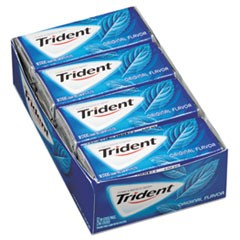 Trident Sugar-Free Gum, Original Mint, 14 Sticks/Pack, 12 Pack/Box