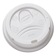 Sip-Through Dome Hot Drink Lids for 10 oz Cups, White, 100/Pack, 1000/Carton
