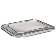 1/2-Size Aluminum Steam-Pan Lids, 10 7/16 x 12 13/16, 100/Carton