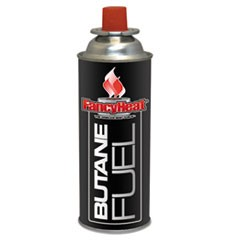 Fuel Cartridge Butane, 2-4 Hour Setting, 8 oz Refill