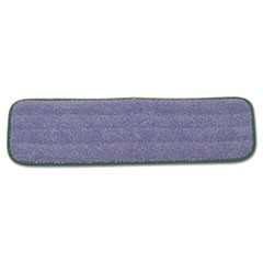 "Microfiber Wet Mopping Pad, 18 1/2"" x 5 1/2"" x 1/2"", Green"