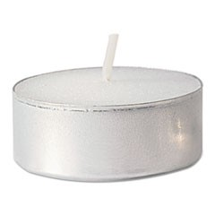 Tealight Candle, 5 Hour Burn, White, 500/Carton