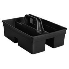 "Executive Carry Caddy, 2-Compartment, Plastic, 10 3/4""W x 6 1/2""H, Black"