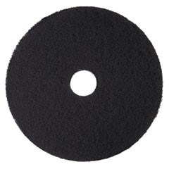 "Low-Speed High Productivity Floor Pads 7300, 16"" Diameter, Black, 5/Carton"