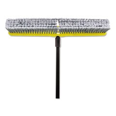 "Fine Floor Sweeper, Polypropylene Fill, 24"" Brush, 3"" Bristles, Gray, 1 Dozen"