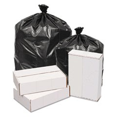Waste Can Liners, 1.6mil, 38w x 38d x 58h, Black, 100/Carton