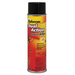 Enforcer Dual Action Insect Killer, For Flying/Crawling Insects, 17Oz Aerosol,12/Carton