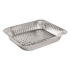 "Steam Table Aluminum Pan, Half-Size, Medium, 2 3/16"" Deep, 100/Carton"