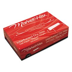 "Interfolded Dry Wax Deli Paper, 8"" x 10-3/4"", White, 500/Box, 12 Boxes/Carton"