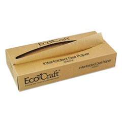 EcoCraft Interfolded Soy Wax Deli Sheets, 12 x 10 3/4, 500/Box, 12 Boxes/Carton