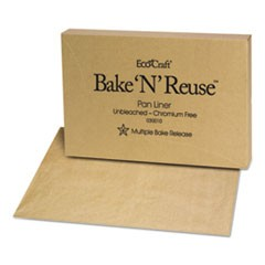 EcoCraft Bake 'N' Reuse Pan Liner, 16 3/8 x 24 3/8, 1000/Box