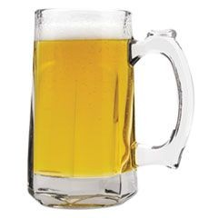 Tankard Beer Mug, Glass, 12 oz, Clear, 12/Carton