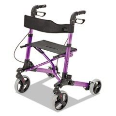 "Gateway Aluminum Rollator, Purple, 31""-36""H, 300 lb Capacity"