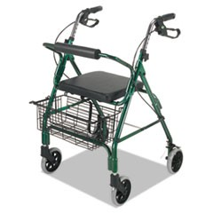 Ultra Lightweight Rollator, Green, Aluminum, Adjustable
