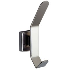 Hat and Coat Hook, Stainless Steel, 6 1/2 x 3 1/16, Bright Polished