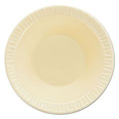 Quiet Classic Laminated Foam Dinnerware, Bowls, 5-6 oz, Honey, 125/PK, 8 PK/CT