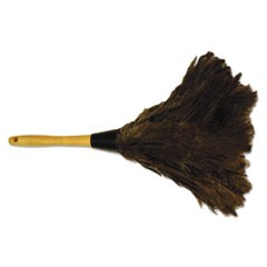 "Professional Ostrich Feather Duster, Gray, 14"", Wood Handle"