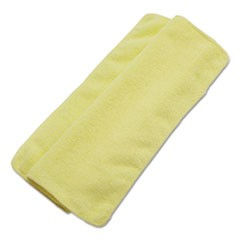 Lightweight Microfiber Cleaning Cloths, Yellow, 16 x 16, 24/Pack