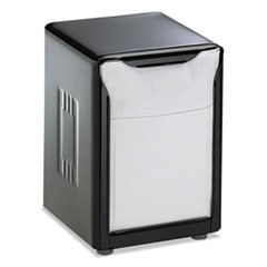 Tabletop Napkin Dispenser, Low Fold, 3 3/4 x 4 x 5 1/2, Capacity: 150, Black