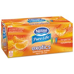 Pure Life Exotics Sparkling Water, Tangerine, 12 oz Can, 8/Pack, 3 Pack/Carton