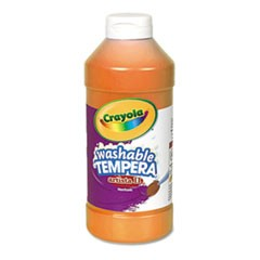 Artista II Washable Tempera Paint, Orange, 16 oz