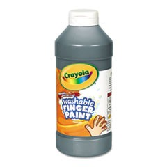 Washable Fingerpaint, Black, 16 oz
