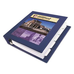 "Framed View Heavy-Duty Binders, 3 Rings, 1.5"" Capacity, 11 x 8.5, Navy Blue"