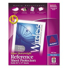 Top-Load Poly Sheet Protectors, Super Heavy Gauge, Letter, Nonglare, 50/Box