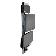 LX Wall Mount System for Medium CPU, Polished Aluminum/Black
