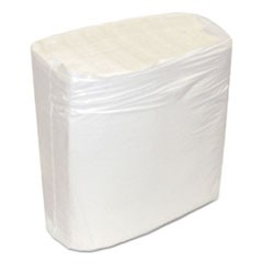 Decor Dinner Napkins, 1-Ply, White, 8 1/2 x 8 3/8, 375/Pk, 3000/Carton