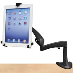 "Neo-Flex Desk Mount Tablet Arm, Up to 10"" Tablet, Black"