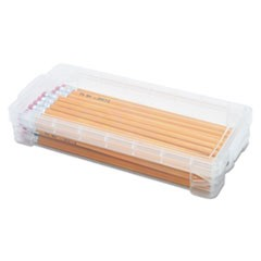 Super Stacker Pencil Box, Clear, 8 1/4 x 3 3/4 x 1 1/2