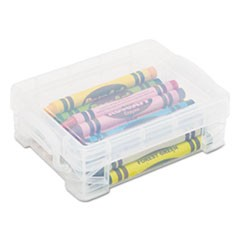 Super Stacker Crayon Box, Clear, 3 1/2 x 4 4/5 x 1 3/5