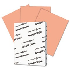 Digital Index Color Card Stock, 90 lb, 8 1/2 x 11, Salmon, 250 Sheets/Pack