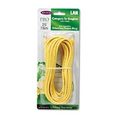CAT5e Snagless Patch Cable, RJ45 Connectors, 25 ft., Yellow