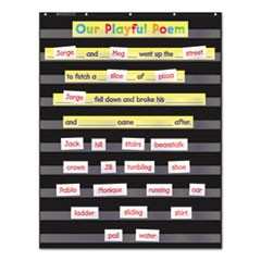 Standard Pocket Charts, 34 x 44, Black/Clear