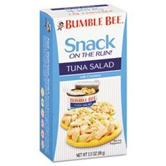 On-The-Go Meal Solution w/Crackers, Tuna Salad, 3.5oz, 12/Carton