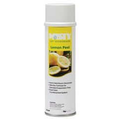 Handheld Air Deodorizer, Lemon Peel, 10oz Aerosol, 12/Carton