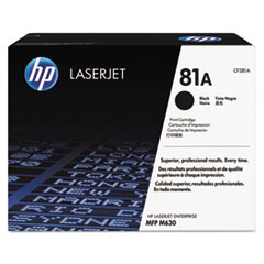 HP 81A, (CF281A) Black Original LaserJet Toner Cartridge