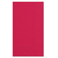 Dinner Napkins, 2-Ply, 15 x 17, Red, 1000/Carton