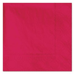 Beverage Napkins, 2-Ply, 9 1/2 x 9 1/2, Red, 1000/Carton